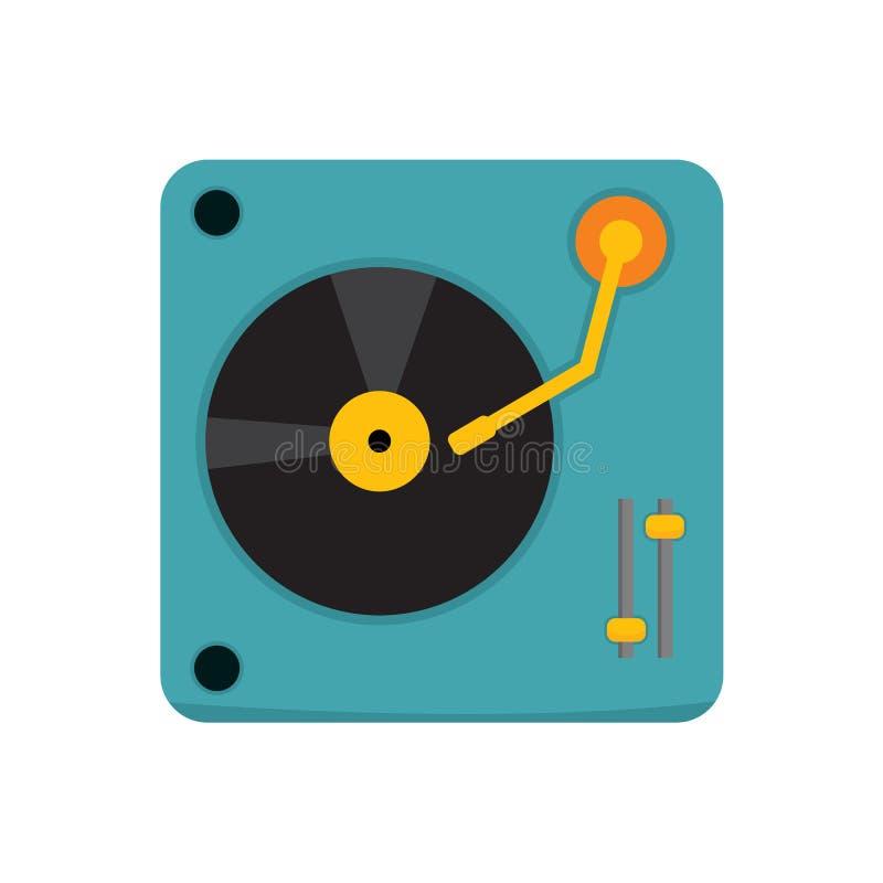 La plaque tournante simple DJ dirigent le graphique d'illustration illustration stock