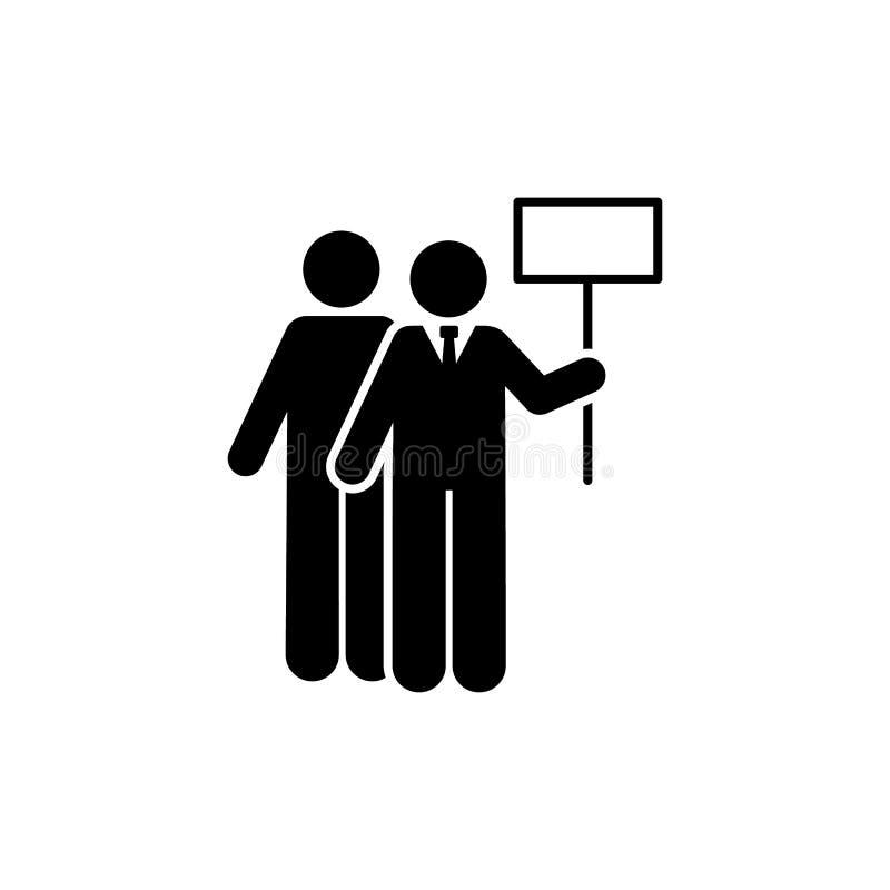La plaquette, bannière, participation, équipe l'icône ?l?ment d'ic?ne d'homme d'affaires Ic?ne de la meilleure qualit? de concept illustration libre de droits