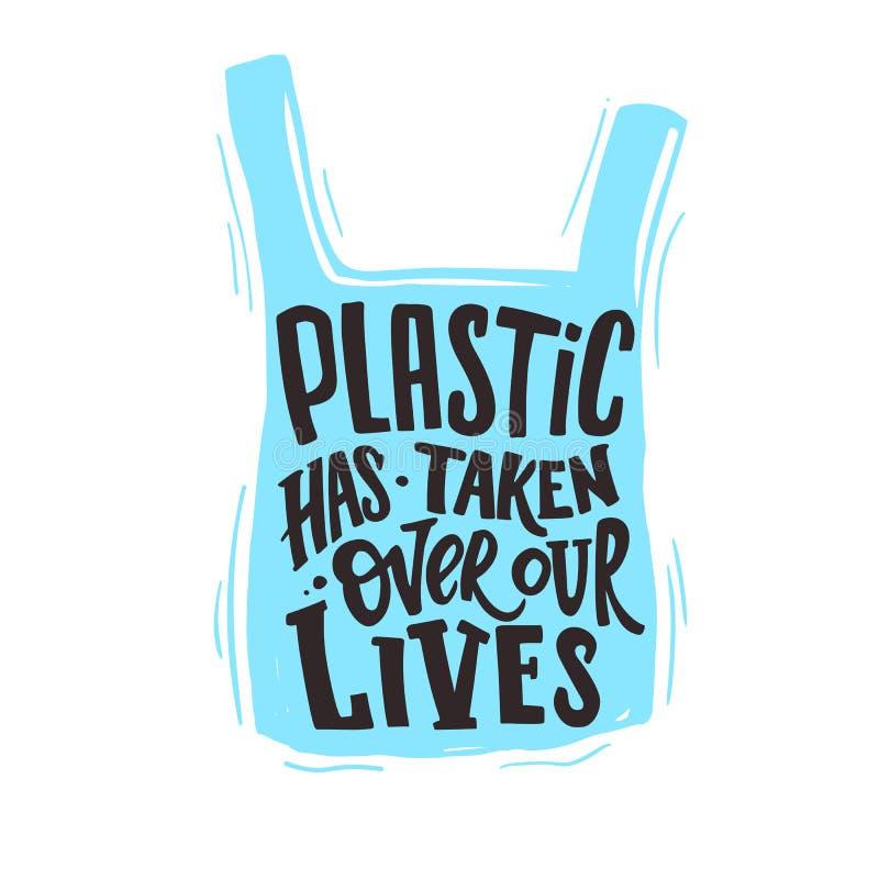 La plastica ha assunto la direzione delle nostre vite illustrazione vettoriale