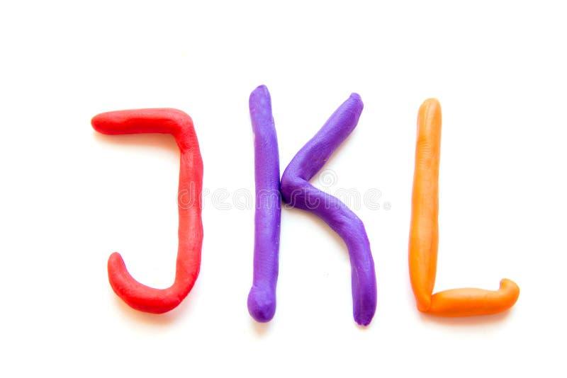 La plastilina segna JKL con lettere immagine stock libera da diritti