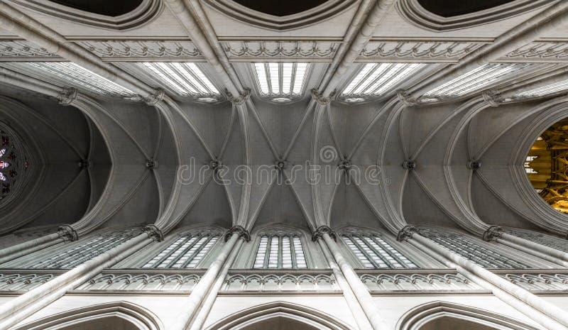 La Plata, Argentina - 31 marzo 2018: Interno della cattedrale di La Plata fotografia stock