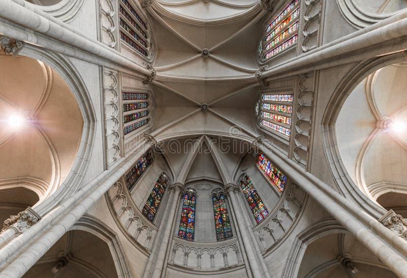 La Plata, Argentina - 31 marzo 2018: Interno della cattedrale di La Plata fotografie stock