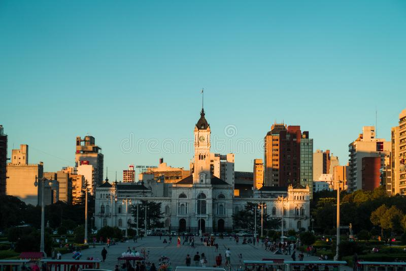 La Plata, Argentine Juillet 2015 Paysage de Palacio municipal photos libres de droits