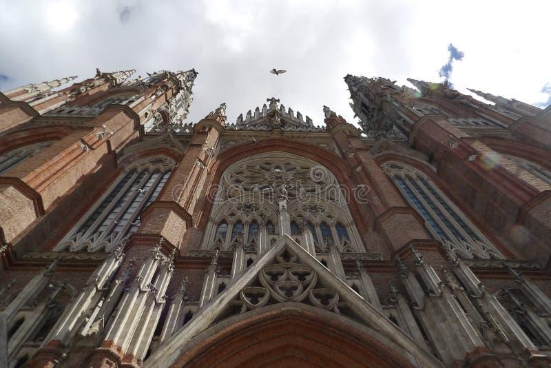 La Plata Cathedral Buenos Aires Argentina. Catedral de la Inmaculada Concepcion. La Plata Cathedral of Buenos Aires, Argentina. Neogothic style building royalty free stock image