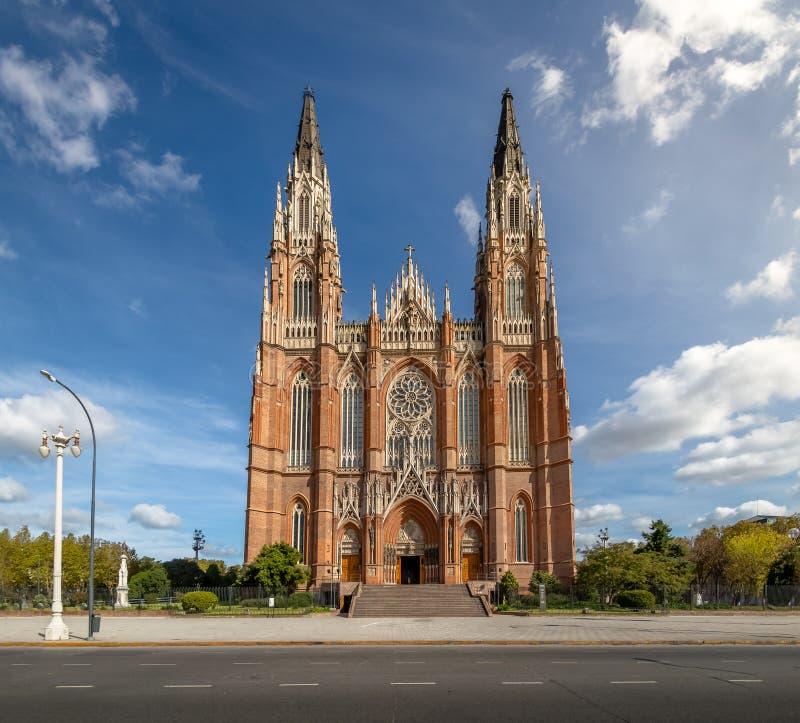 La Plata Cathedral - La Plata, Buenos Aires Province, Argentina stock images