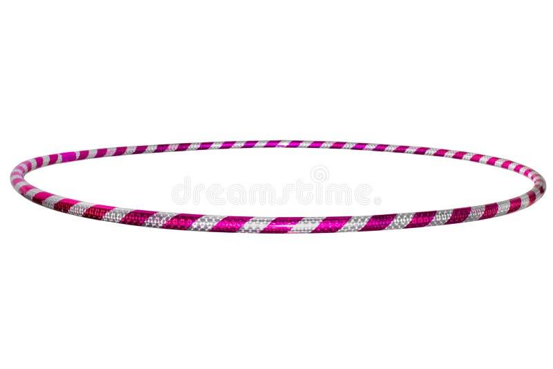 La plata del aro del hula con púrpura aislada en el fondo blanco g imagenes de archivo