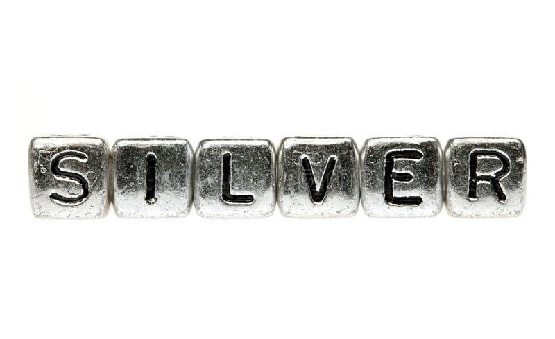 La plata deletrea la plata fotografía de archivo libre de regalías