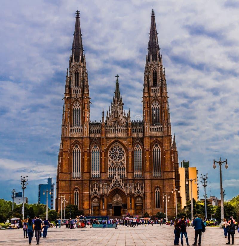 La Plata Kathedralenfassade stockfotografie