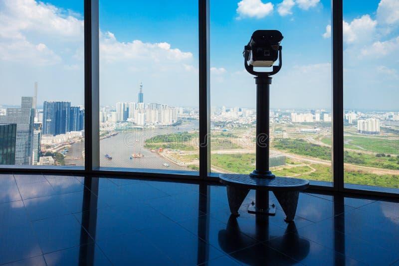 La plate-forme d'observation de Saigon Skydeck image libre de droits