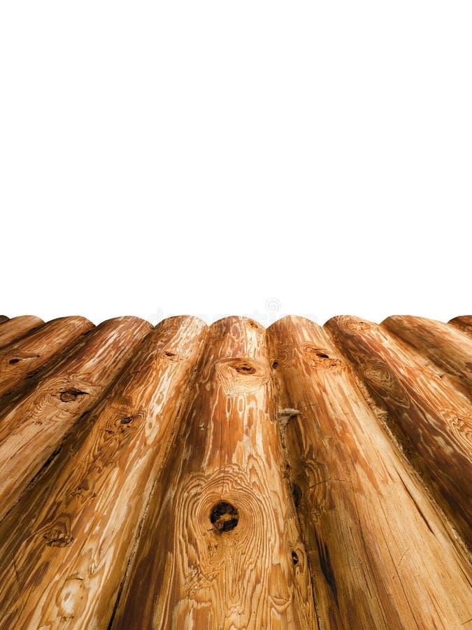 La plate-forme des planches en bois de rondin images libres de droits