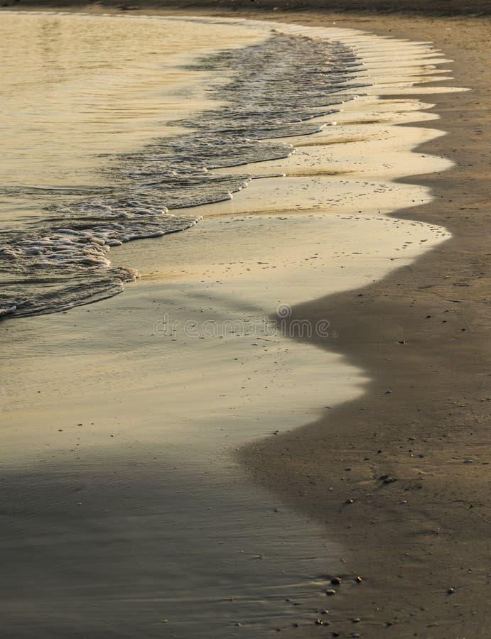 La playa agita el extracto fotografía de archivo