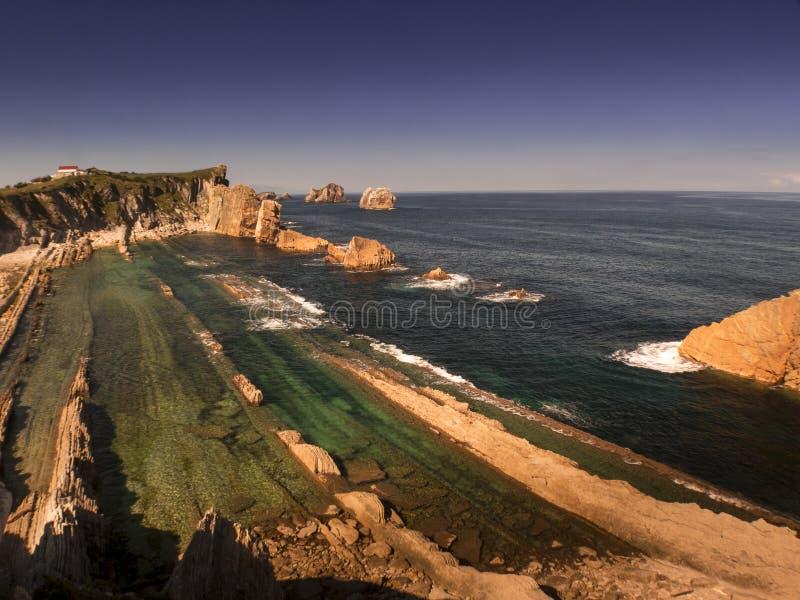 Download La Playa De Arnia, Durante La Bajamar II Foto de archivo - Imagen de nube, ambiente: 64210124