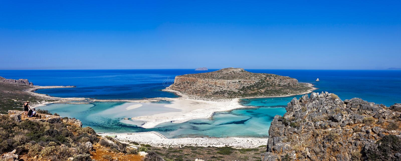 La playa de Balos, Granvoussa, Creta imagen de archivo