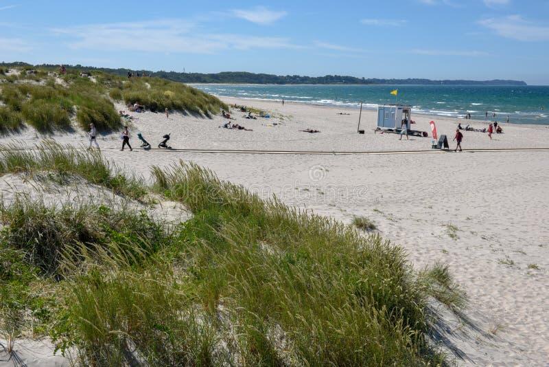 La playa de Hornbaek en Dinamarca imagen de archivo libre de regalías