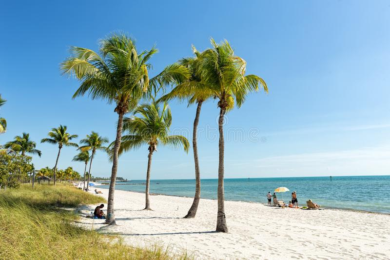 La playa de Key West, la Florida afina los E fotos de archivo libres de regalías