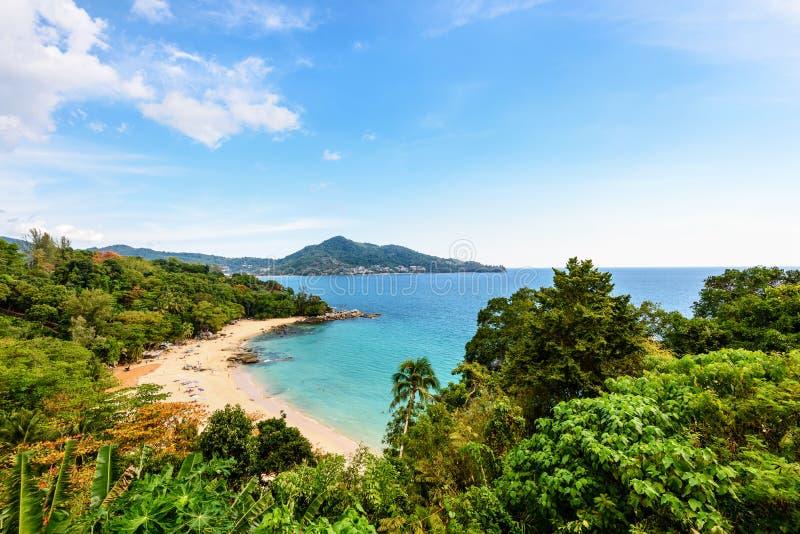 La playa de Laem canta el cabo en la isla de Phuket imagen de archivo libre de regalías