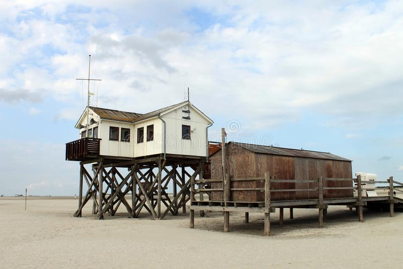 La playa de St Peter-Ording imagen de archivo libre de regalías
