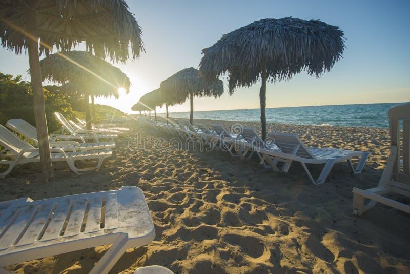 La playa de Varadero es un destino asombroso en el Caribbeans fotografía de archivo libre de regalías