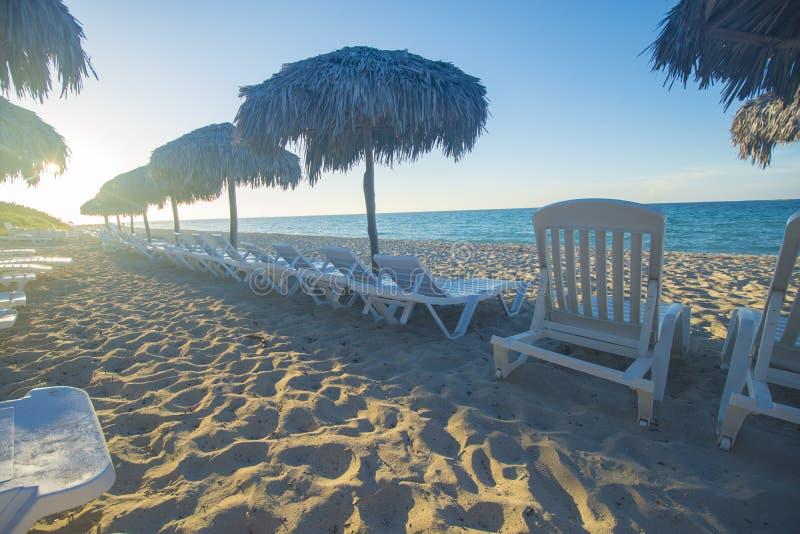 La playa de Varadero es un destino asombroso en el Caribbeans fotos de archivo libres de regalías