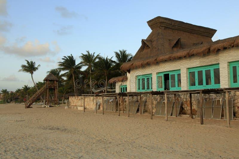 La playa en el maya de Vidanta Riviera fotografía de archivo libre de regalías