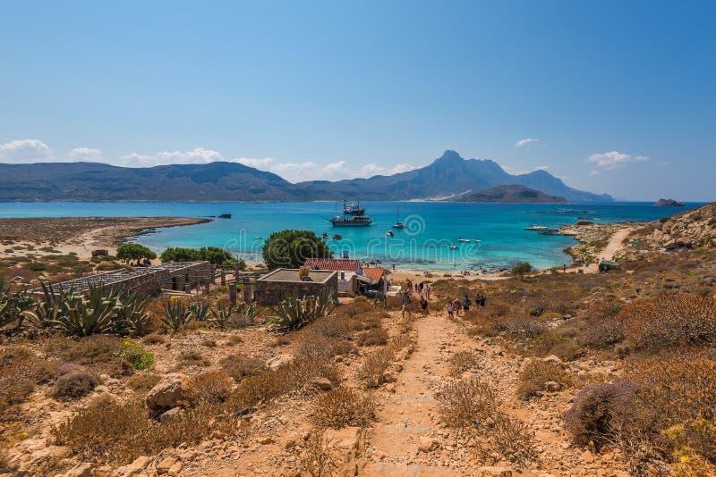 La playa en la isla de Gramvousa imagen de archivo libre de regalías