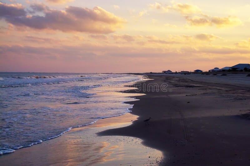 La playa en la isla magnífica, Luisiana foto de archivo