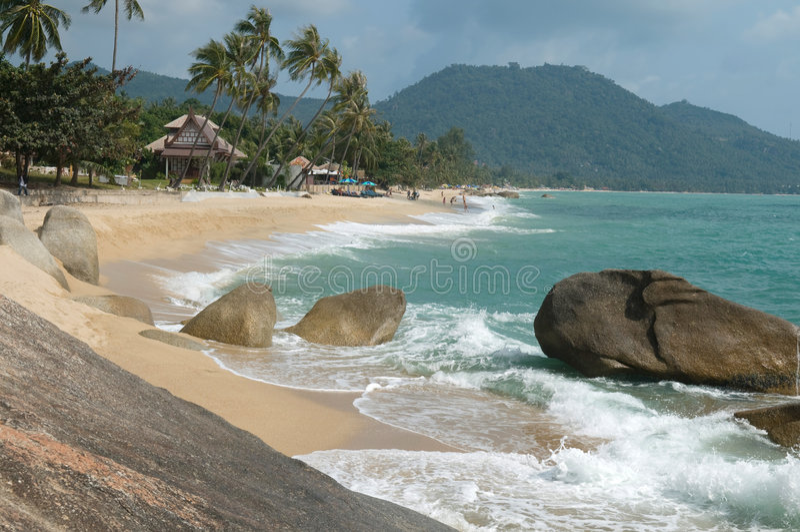 La playa en la KOH Samui imágenes de archivo libres de regalías