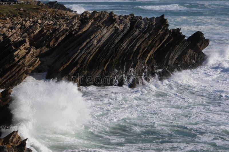 La playa hermosa de Baleal en Portugal imágenes de archivo libres de regalías