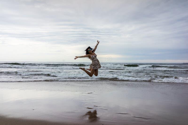 La playa hermosa de Punta del Este, Uruguay imágenes de archivo libres de regalías