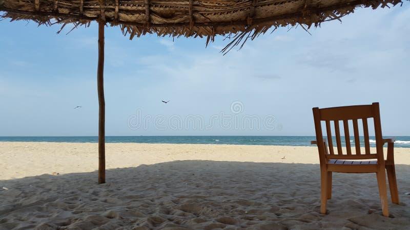 La playa, paisaje, día de fiesta, se relaja imagen de archivo libre de regalías