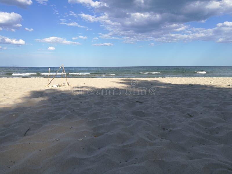 La playa sola imagen de archivo