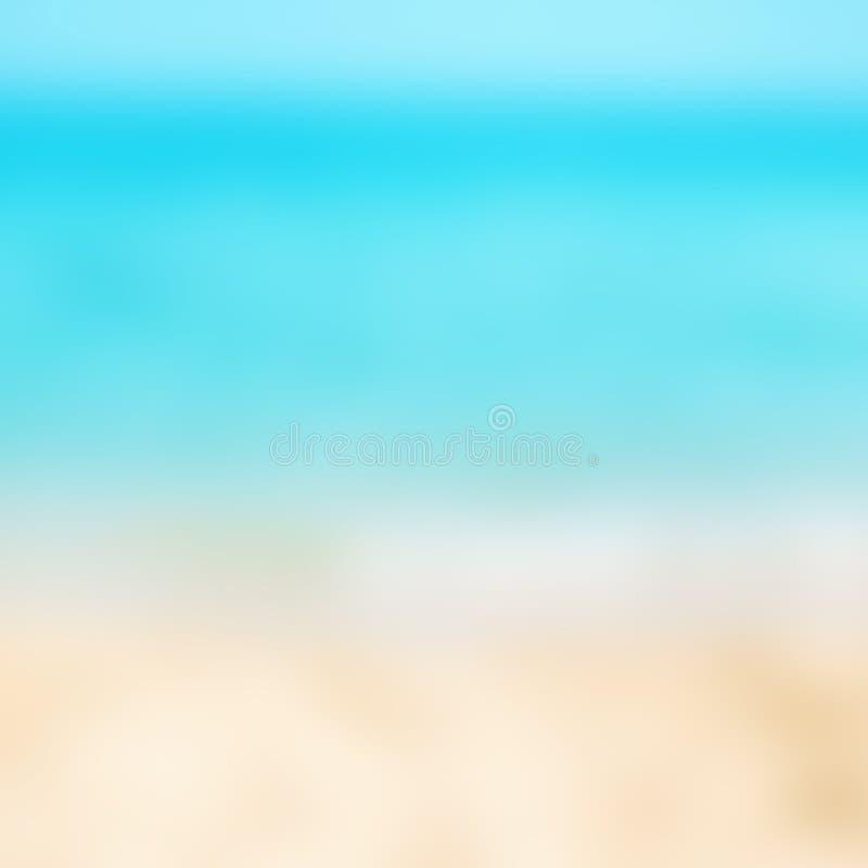 La playa tropical hermosa y el mar de la falta de definición abstracta ajardinan para el CCB fotografía de archivo