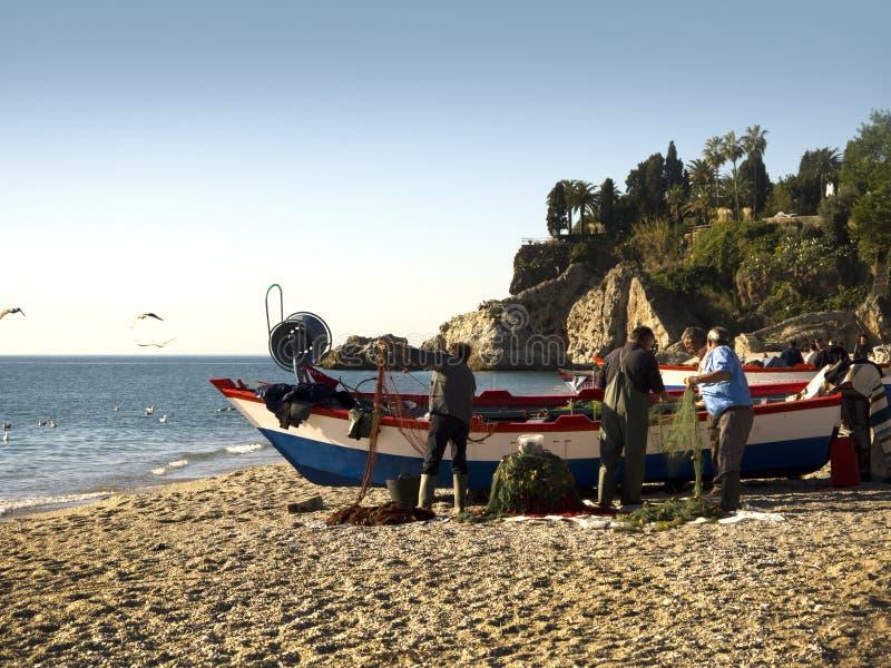 Playa Nerja España de Burriana fotos de archivo