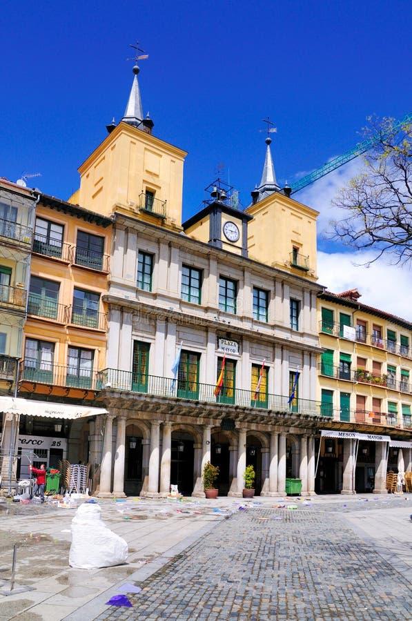 Alcalde de la plaza, Segovia, España fotos de archivo