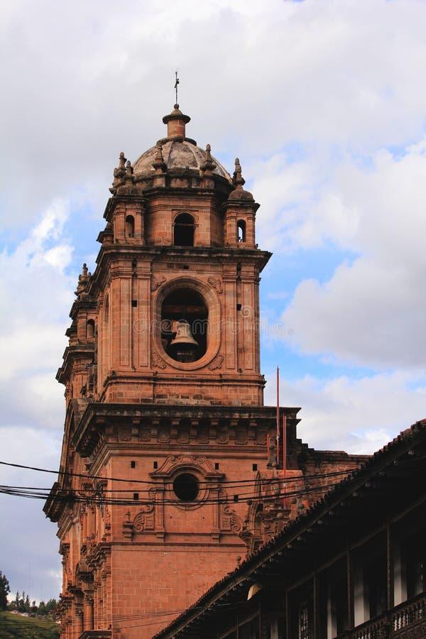 la Plaza de阿玛斯在库斯科 免版税库存图片