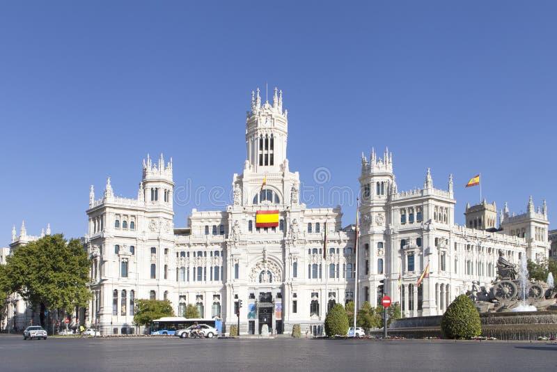 La plaza de Cibeles a Madrid, Spagna fotografia stock