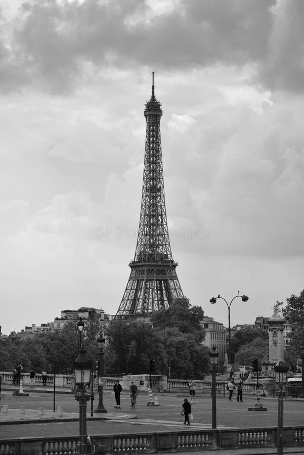 La plaza de la Concordia en día nublado, París, Francia imagenes de archivo
