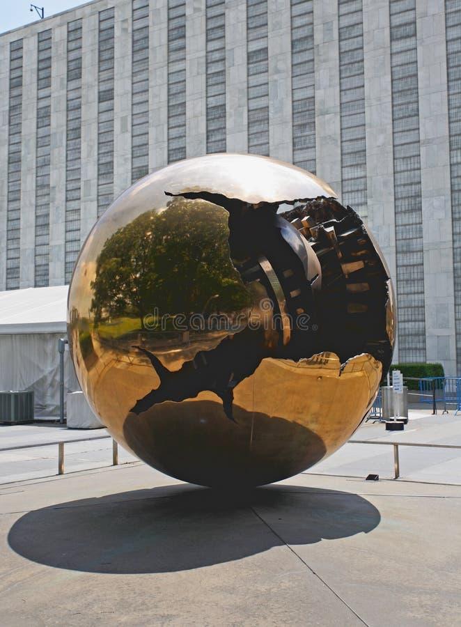 La plaza de siège social de nation unie images libres de droits