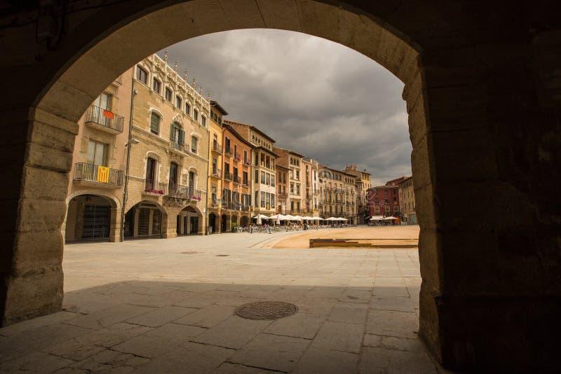La plaza principal de Vic imagenes de archivo