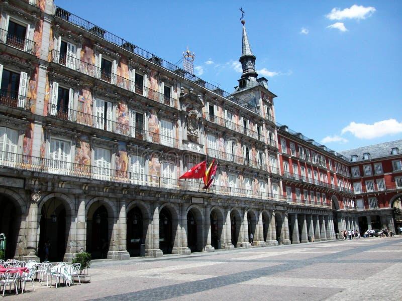 La plaza principale a Madrid fotografia stock