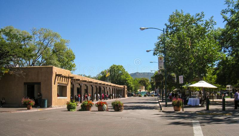 La plaza in Santa Fe, New Mexico fotografia stock