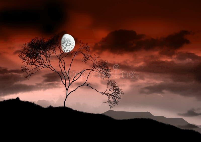 La pleine lune lumineuse. photos stock