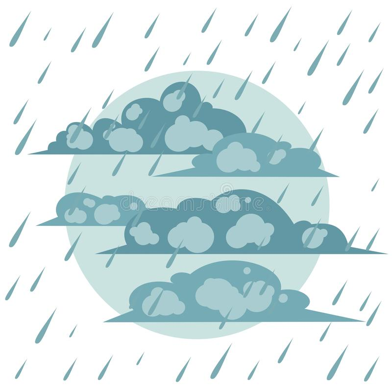 La pluie d'automne illustration libre de droits