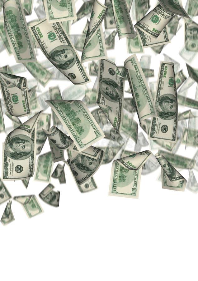 La pluie du dollar a isolé 2 illustration libre de droits