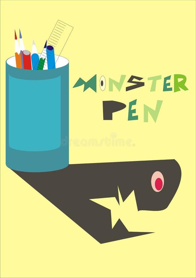 La pluma del monstruo de la historieta fotografía de archivo