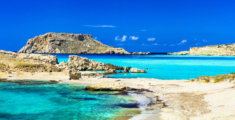 La plupart des belles plages de la Grèce photographie stock libre de droits