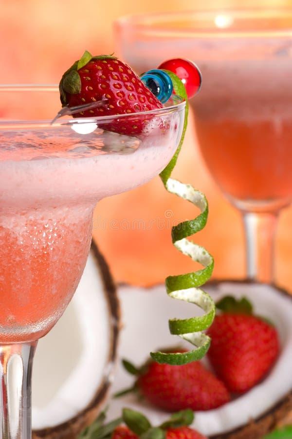 La plupart des série populaire de cocktails - fraise Colada image stock