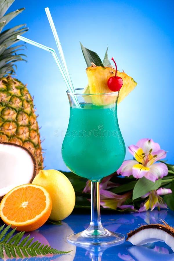 La plupart des série populaire de cocktails - Hawaïen bleu images stock