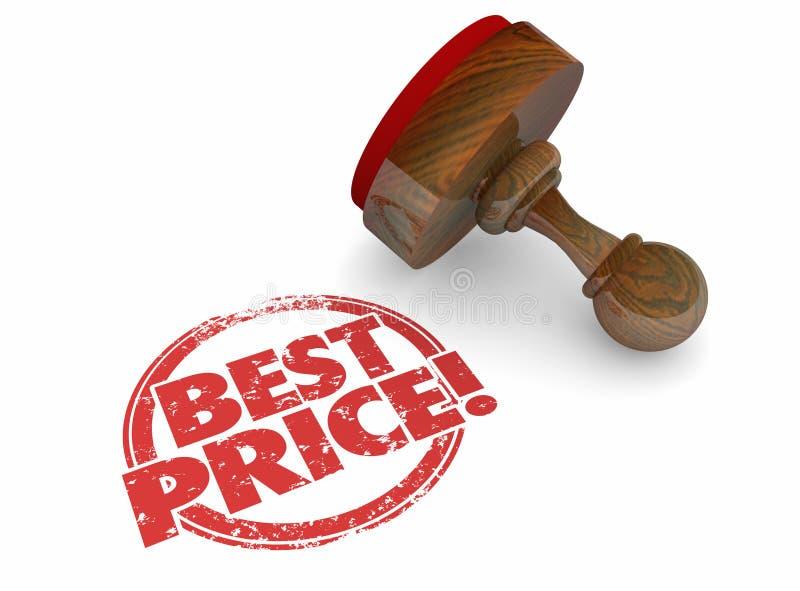La plus basse offre d'affaire de vente des meilleurs prix illustration de vecteur