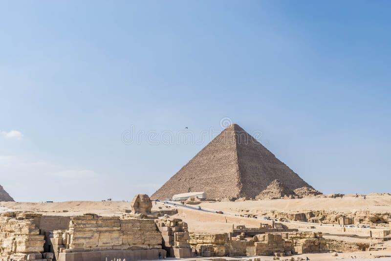 La plus grande pyramide de l'Egypte image libre de droits